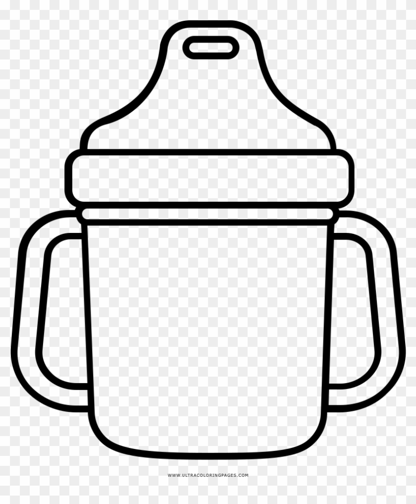Sippy Cup Coloring Page - Sippy Cup Clip Art #195078