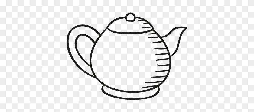 Teapot Facing Right Vector - Teapot Facing Right #195077
