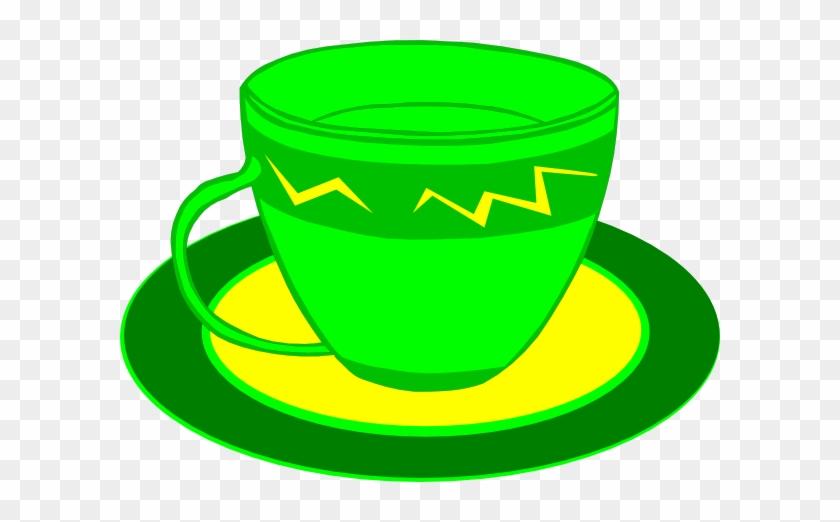 Teacup Clipart Yellow - Green Tea Cup Clip Art #195102