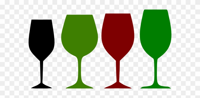 Glasses Clipart Red Wine Glass - Green Wine Glass Clipart #195103