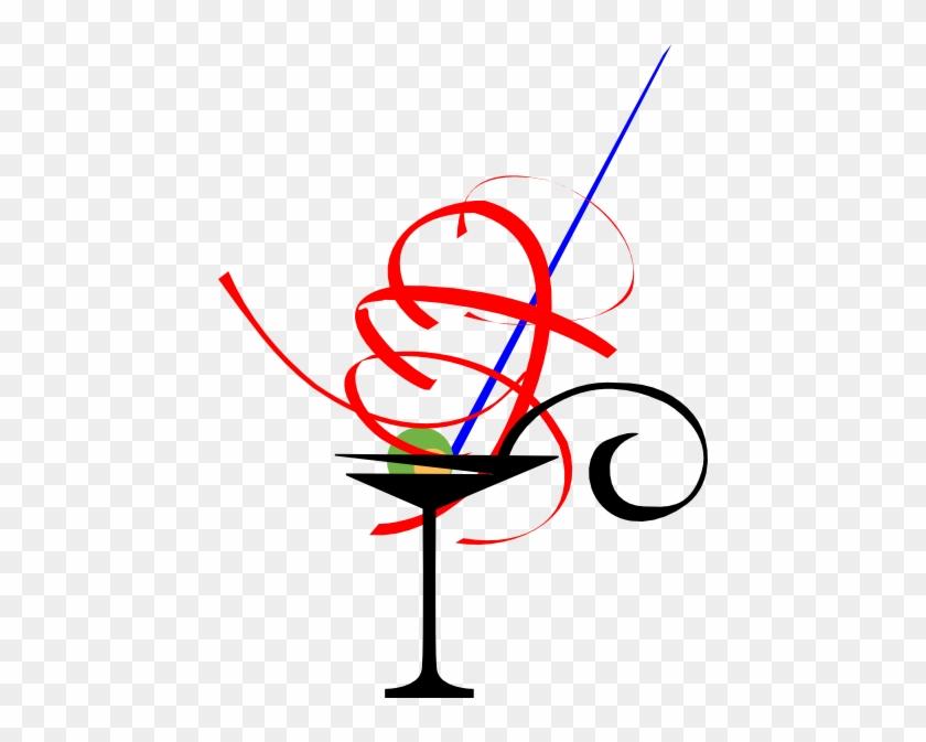 Red Martini Glass Clip Art - Red Martini Glass Clip Art #195104