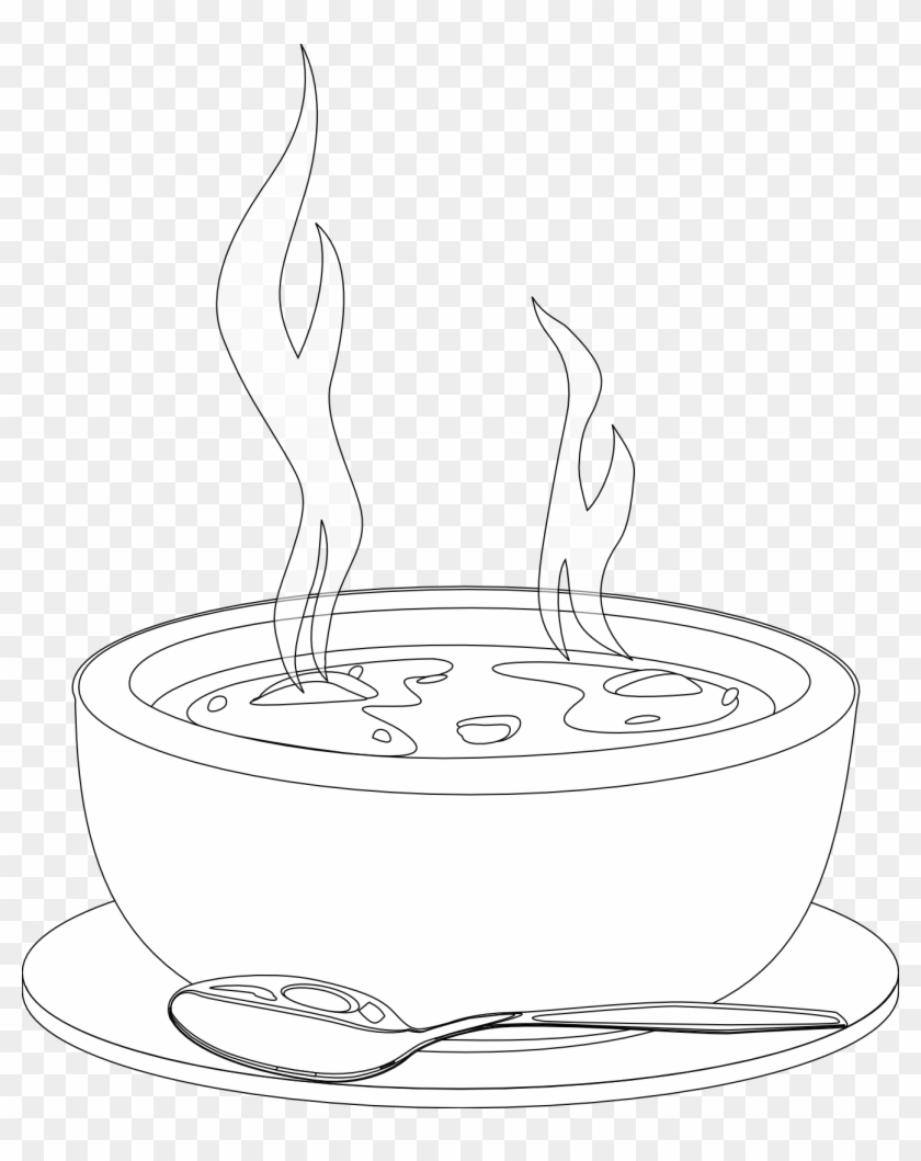 Hot Soup Clipart Black And White - Html #195113