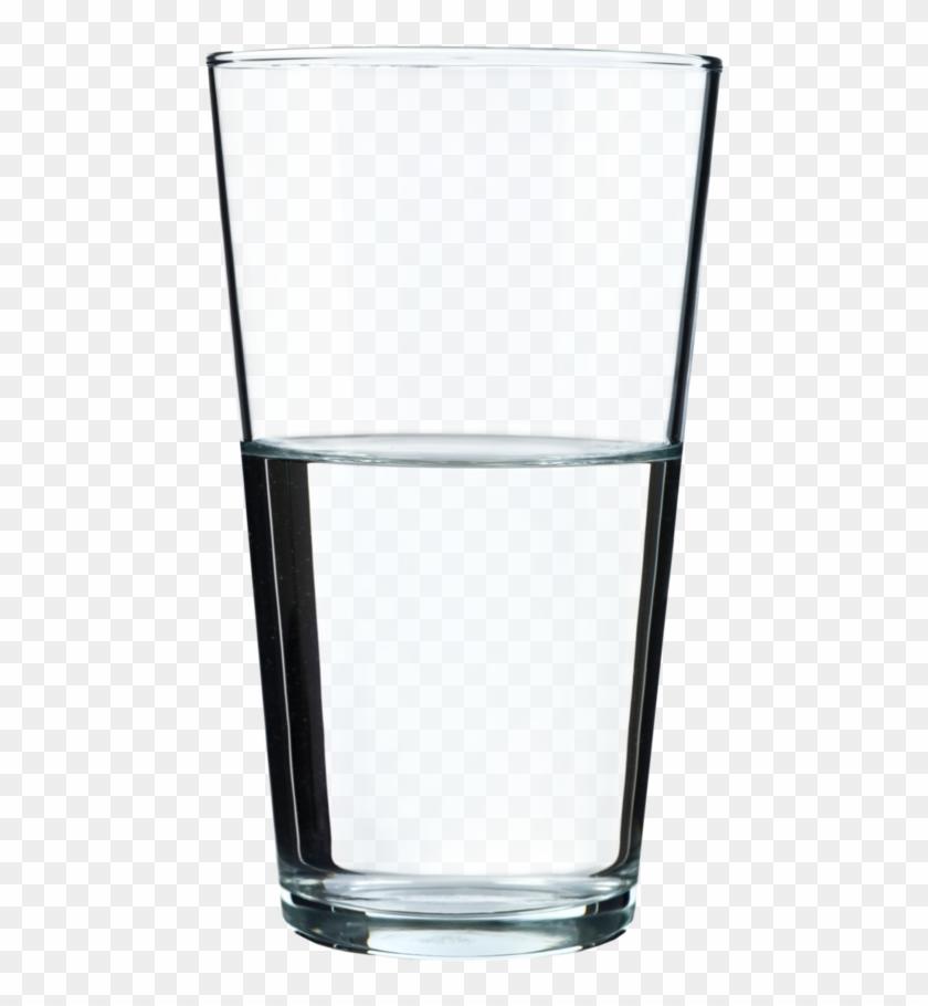 Is The Glass Half Empty Or Half Full Drawing Clip Art - Half Way Full Glass #195134