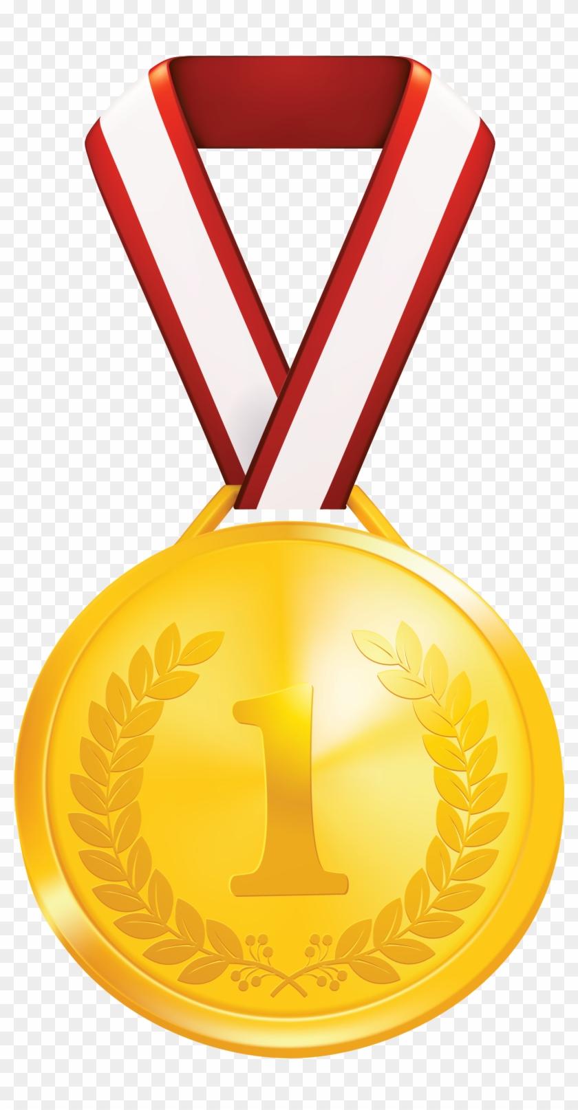 Gold Medal Laurel Wreath Clip Art - Clip Art Gold Medal #195143