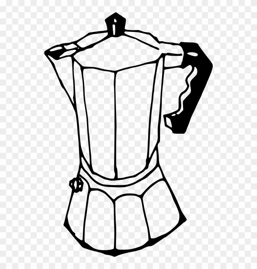 Medium Image - Coffee Maker Drawing Easy #195168