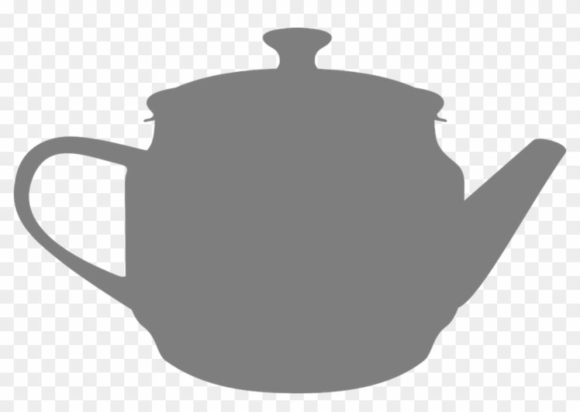 Teapot Clipart Vector - Tea Pot Silhouette Png #195224