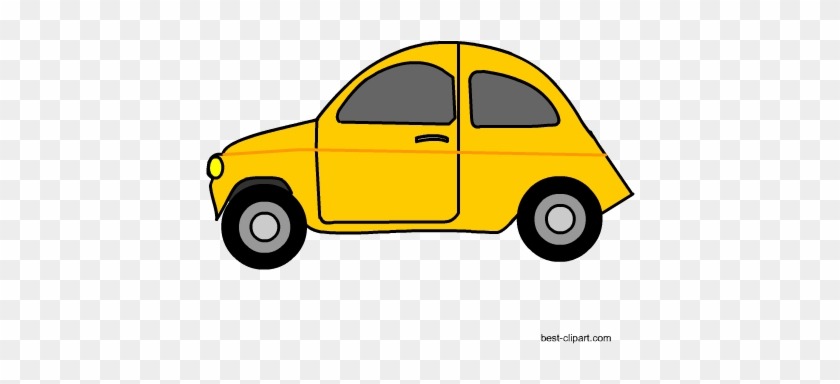 Yellow Car Free Clip Art - Car #195225