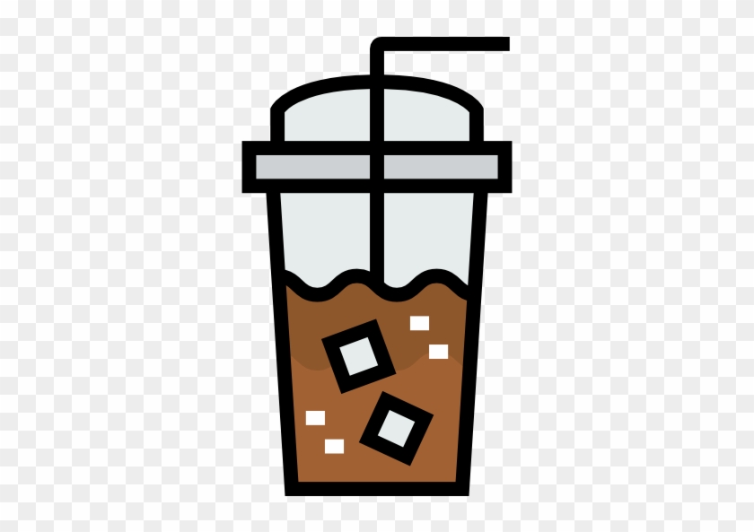 Iced Coffee Free Icon - Iced Coffee Clipart Png #195247