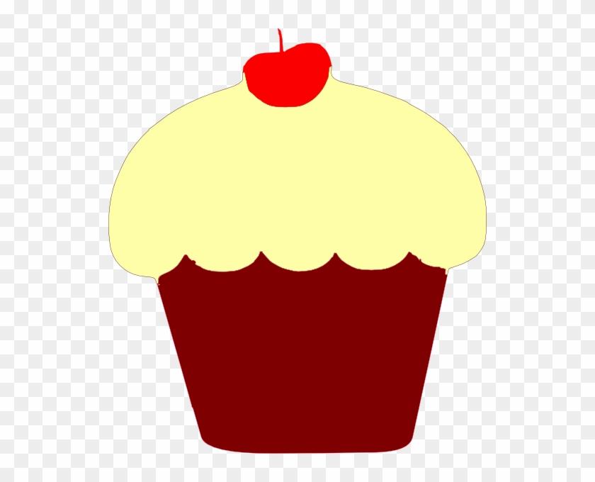 Red Velvet Cupcake Clip Art At Clker - Red Velvet Cupcake Clipart #195290