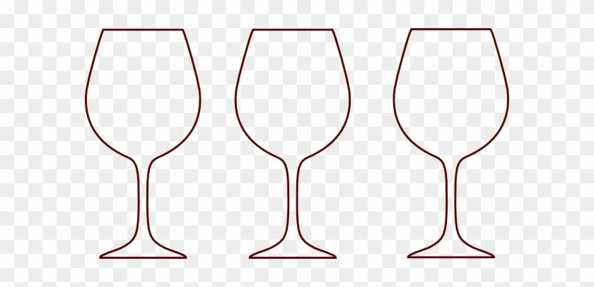 Wine Glass Silhouettes Clip Art - Wine Glass Outline Clip Art #195298