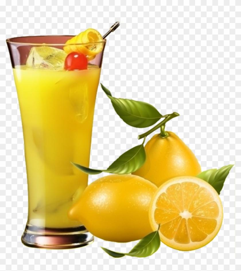 Juice Lemon Fruit Clip Art - Real Fruit Vector #195321