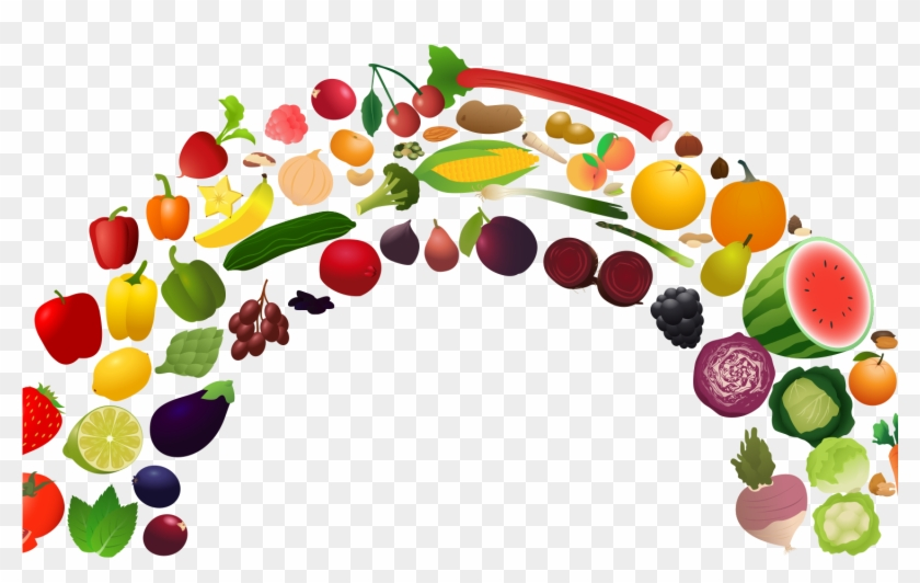Healthy Diet Nutrition Health Food Fruit Clip Art - Fruit And Vegetable Rainbow #195335
