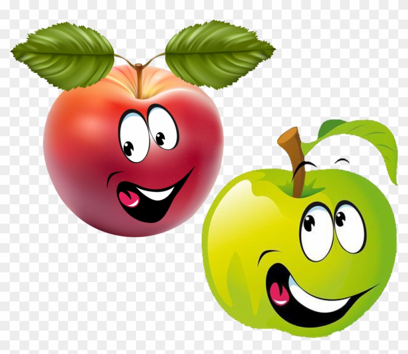 Fruit Smiley Cartoon Clip Art - Smiley Fruit #195374