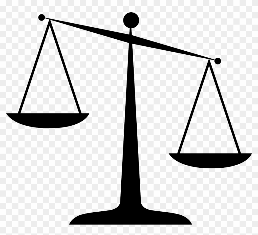 Law Clipart - Scales Of Justice Clip Art #195384