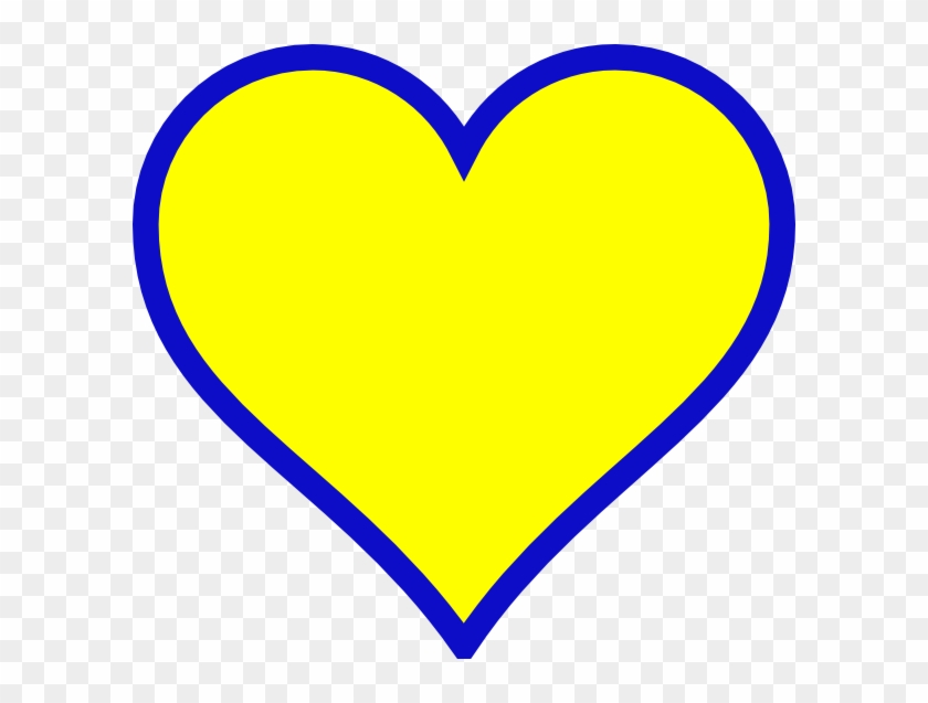Michigan Blue Gold Heart Svg Clip Arts 600 X 557 Px - Blue And Yellow Heart #195433