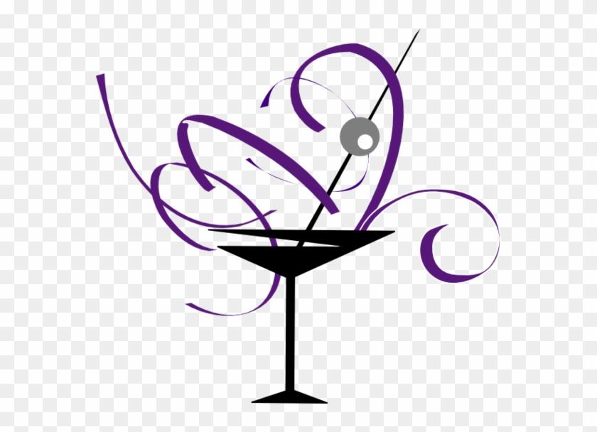 Martini Glass Cocktail Glass Clip Art Vector Free Clipart - Cocktail Glass Clip Art #195440