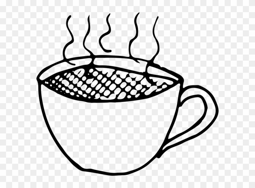 Steaming Hot Coffee Rubber Stamp - Rubber Stamp #195452