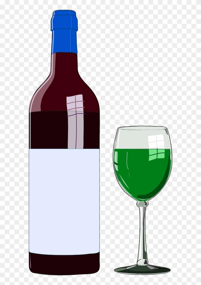 Wine Bottle And Wine Glass - Wine Bottle Clip Art #195500