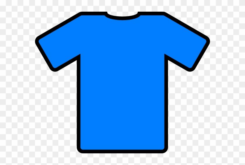 Blue Football Top Clip Art At Clker - T Shirt Clip Art #195522