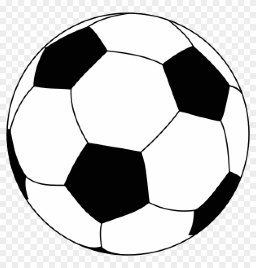 Football Black And White Football Clipart Images - Soccer Ball Drawing Png #195534