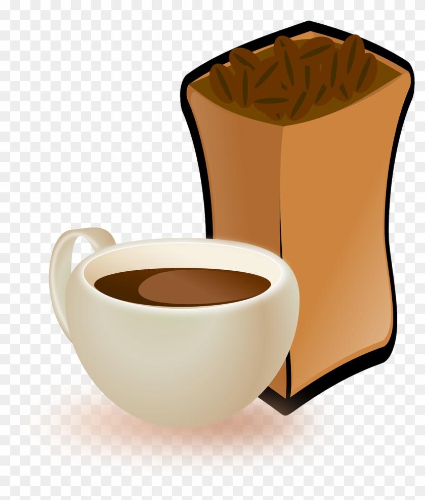 Food, Cup Coffee Coffee Beans Food Drink Beverag - Coffee Beans Clip Art #195583