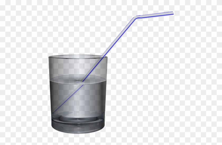Glass Of Water Water Glass Clipart - Glass Of Water With Straw #195602