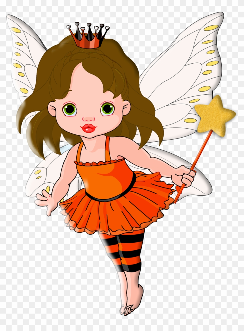 Princess And Fairytale Clipart - Illustration Of Halloween Baby Fairy And He Magnet #195616