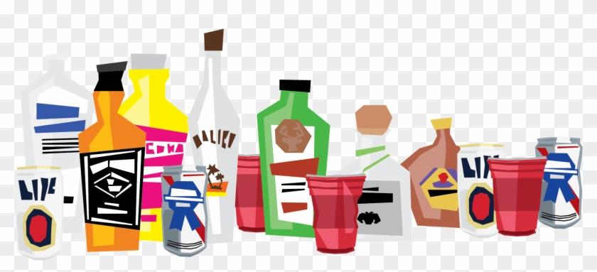 Liquor Clipart Party Drink - Alcohol Party Clip Art #195675