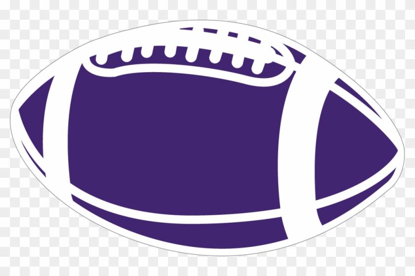 Purple Football Clipart - Purple Football Clipart #195684