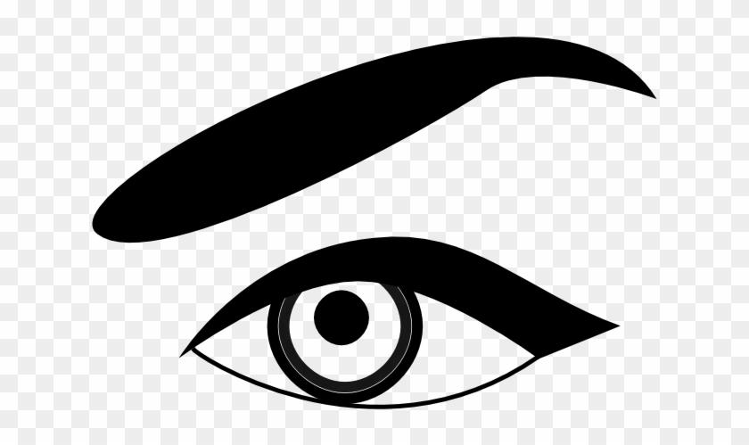 Free Eyeball Clipart - Eyebrow Black And White Clipart #195693