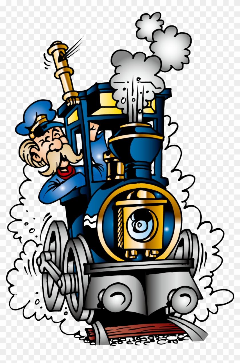Train Railroad Engineer Steam Locomotive Clip Art - Train Railroad Engineer Steam Locomotive Clip Art #195761