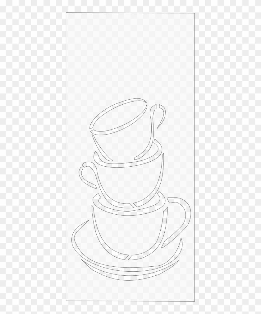Coffee Art Scroll Saw Pattern - Line Art #195786