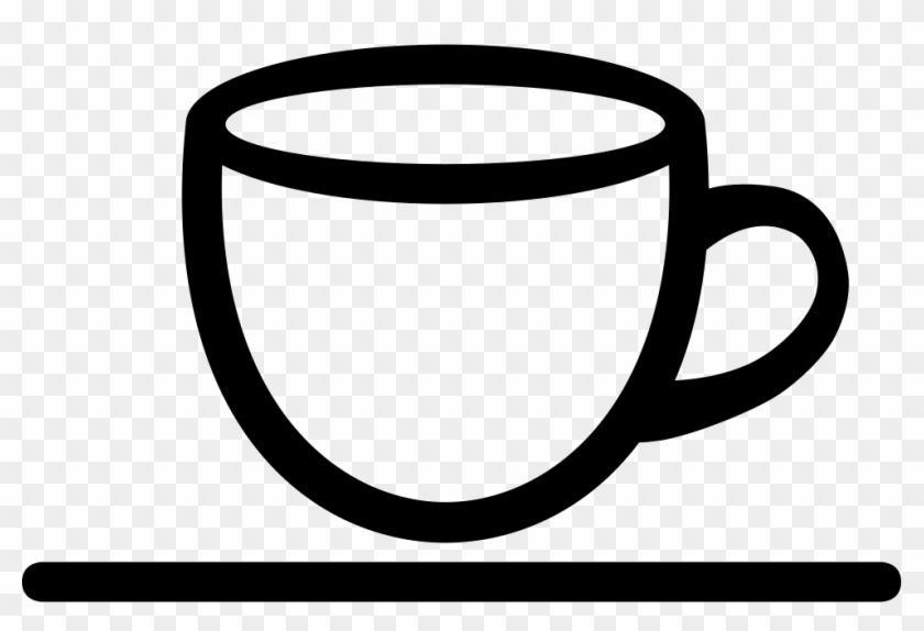 Coffee Shop Interface Symbol Of A Cup Comments - Black And White Cup Png #195802