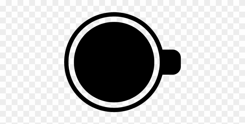 Coffee Cup Top View Vector - Cup Top View Vector #195803