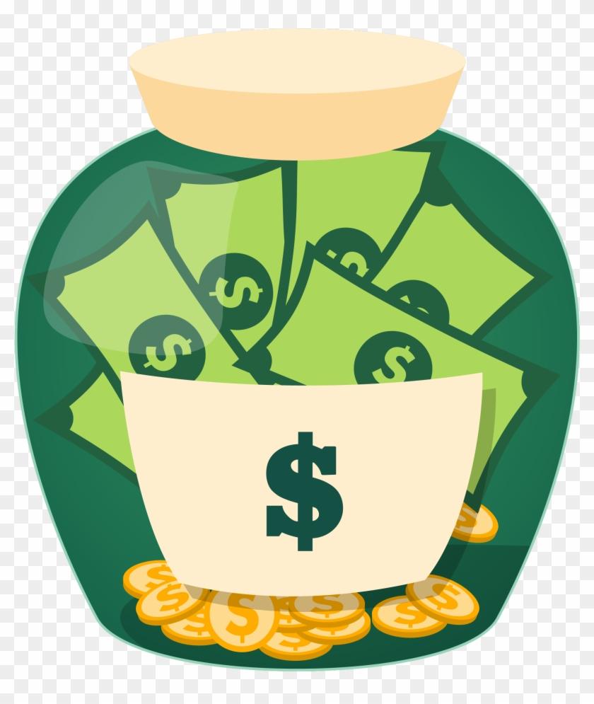 Money Jar Saving Clip Art - Budget Planner Organizer: 365 Days, 12 Month Daily #195824