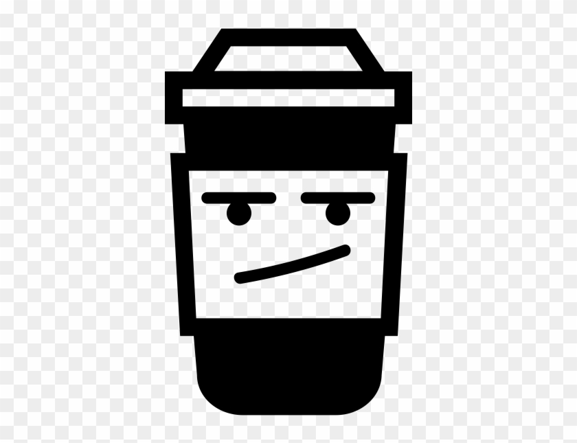 Upset Takeaway Coffee Cup Rubber Stamp - Icon #195838