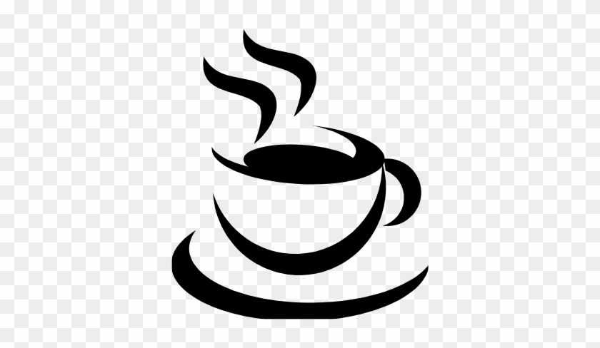 Coffee Cup - Coffee Logo Black And White #195852
