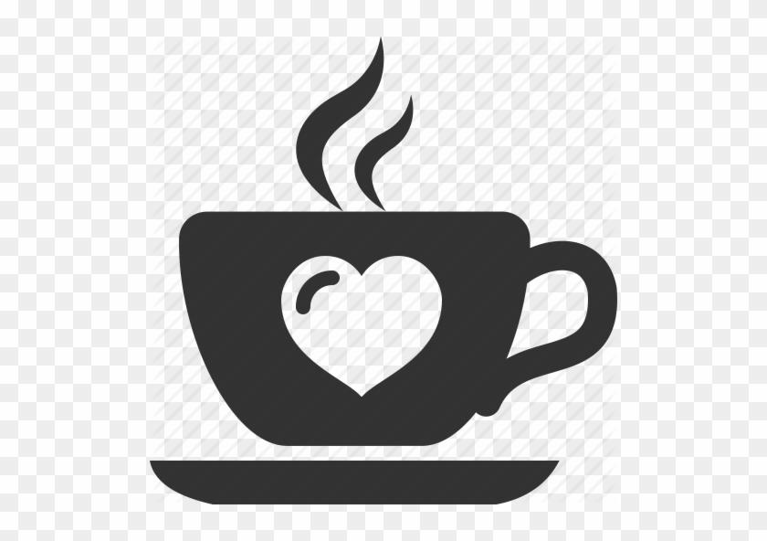 Pin Coffee Cup Clip Art Heart - Coffee Mug With Heart #195879