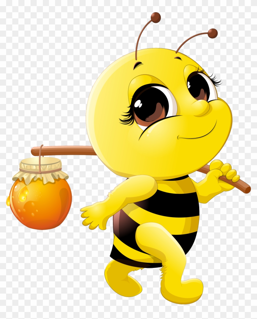 Honey Bee Cartoon Clip Art - My Life As A Honey Bee By Joyce A Wagner #195890