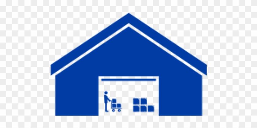Warehouse Logistics - Warehouse Clipart Blue #195944