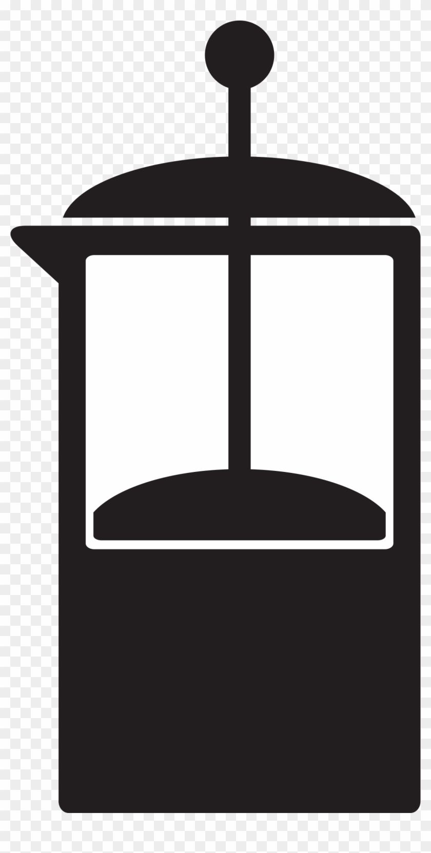 Coffee French Press - French Press Coffee Icon Png #195957