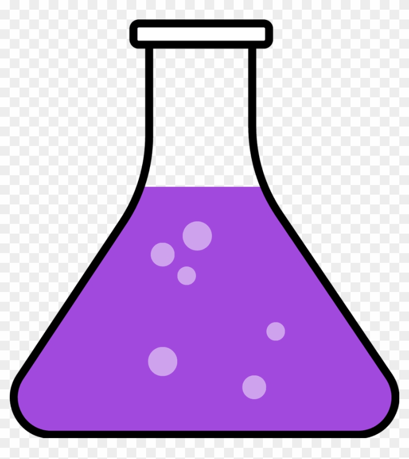 Purple Science Flask Clipart Biochemistry Biology Chemical - Beaker Clipart #195977