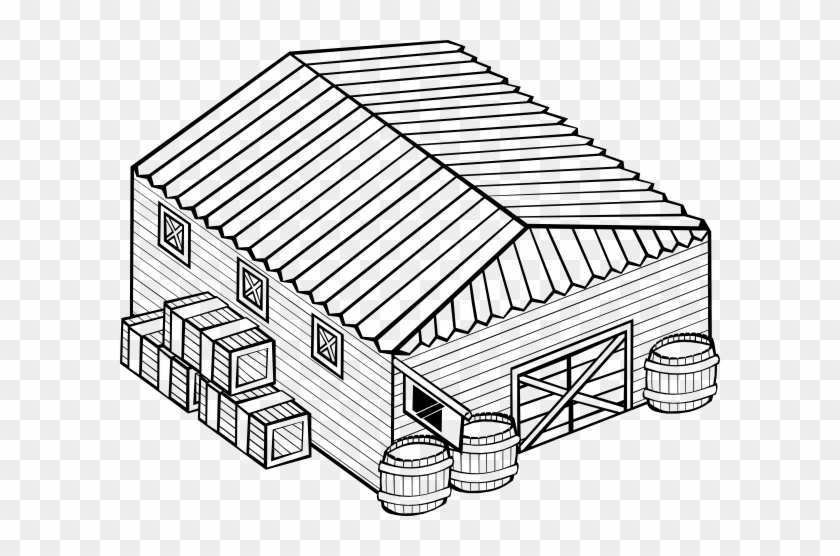 Warehouse Clip Art At Clker - Warehouse Black And White #195984