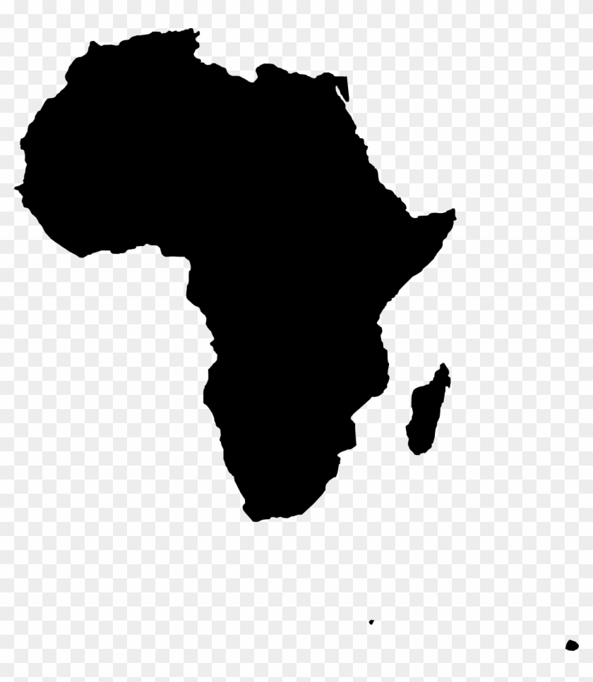 Africa Vector Map Clip Art - Telugu Letters Png #195988