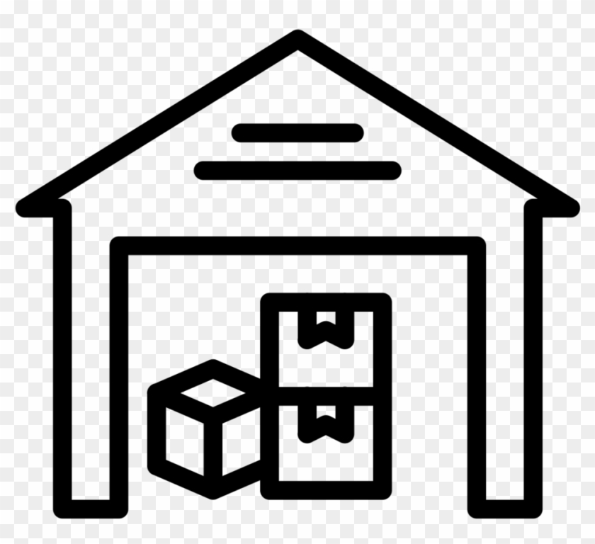 Inventory Mgmt - - Warehouse Clipart Black And White #196001