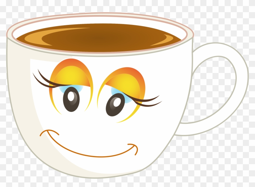 Tea Cup Hand Drawn Transpa Png Svg Vector - Happy Cup Of Coffee #196040