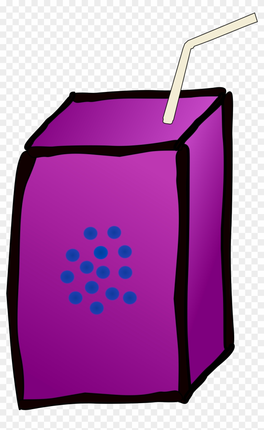Free Juice Box Free Coffee - Grape Juice Box Clipart #196041
