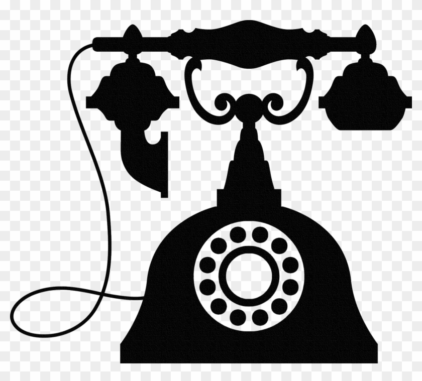 Vintage Telephone Wall Sticker, Old Phone Wall Art, - Factory Clipart #196065
