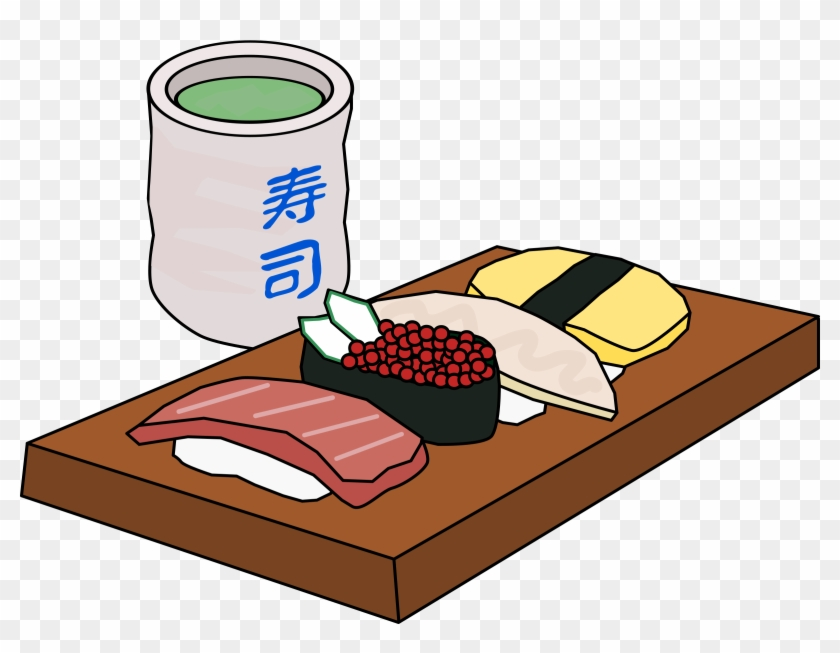 This Free Icons Png Design Of Sushi And Green Tea - Sushi Clipart #196069
