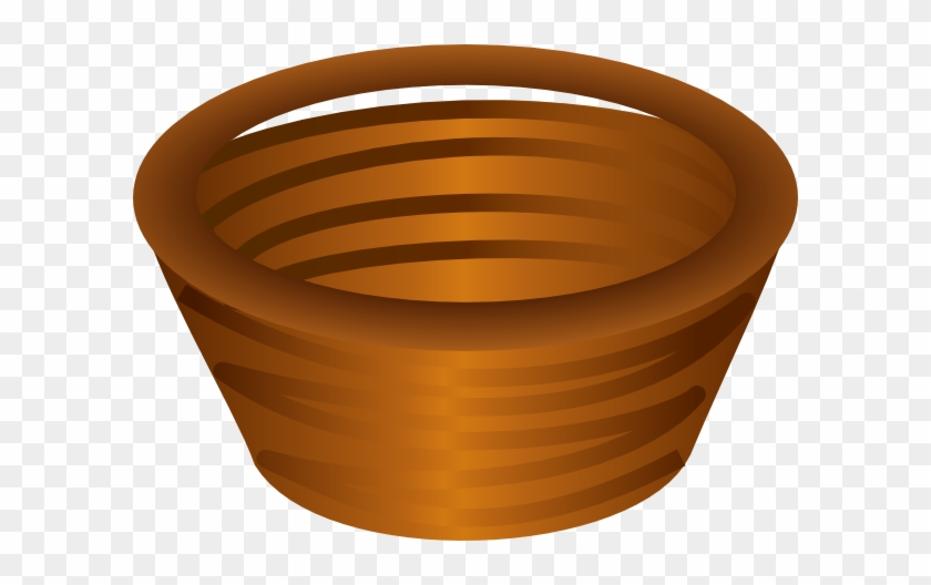 Basket No Handle Clip Art - Brown Basket Clip Art #196093